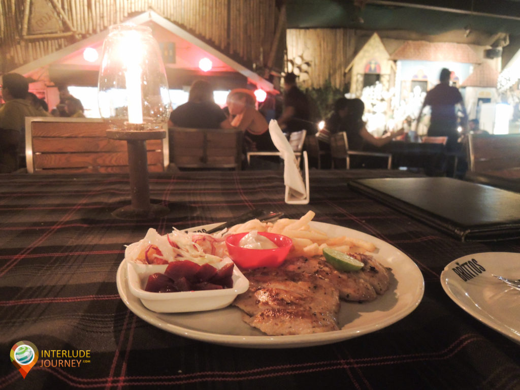 The lip-smacking food at a beach bistro