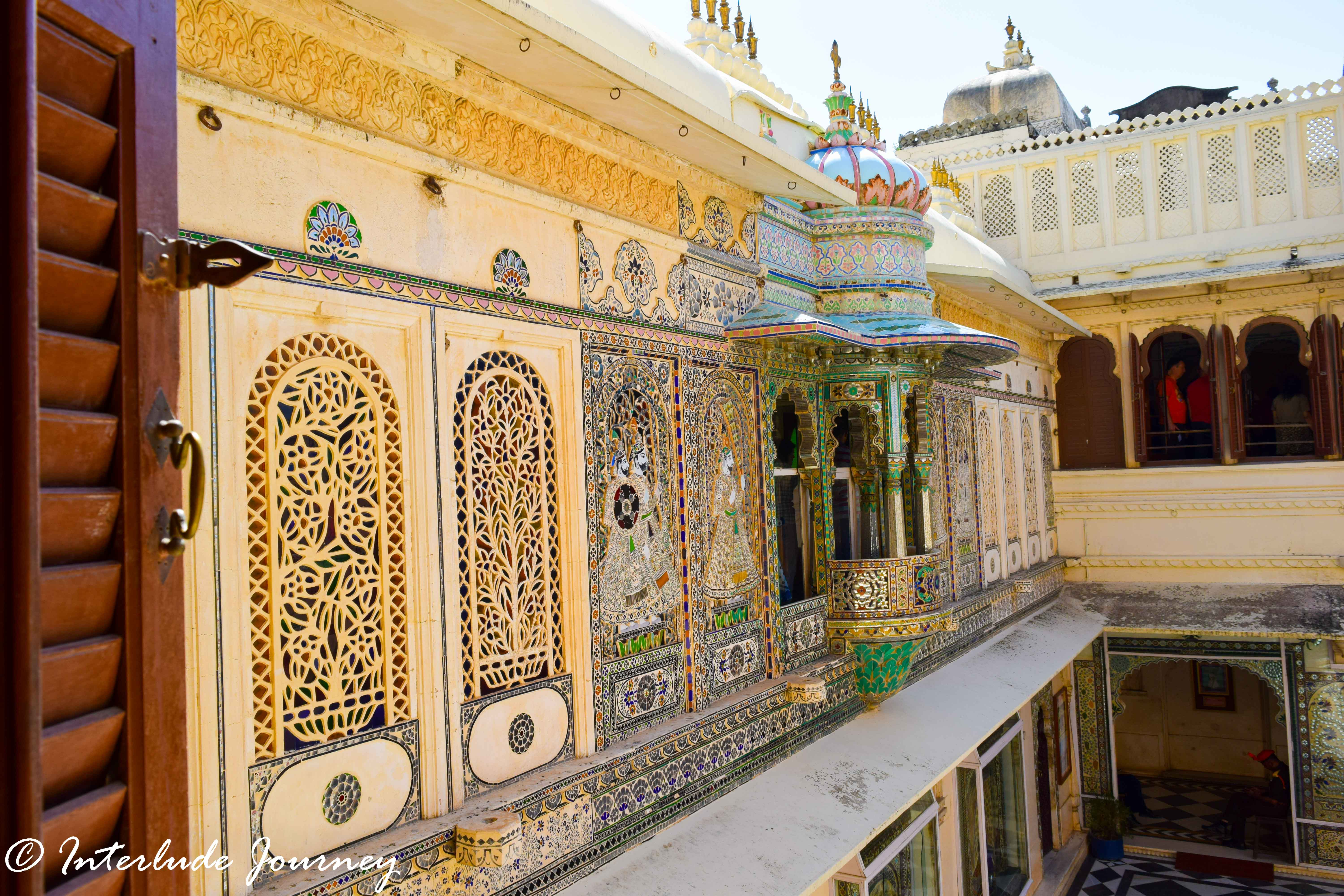 Mor-Chowk or Peacock Gallery at Udaipur City Palace