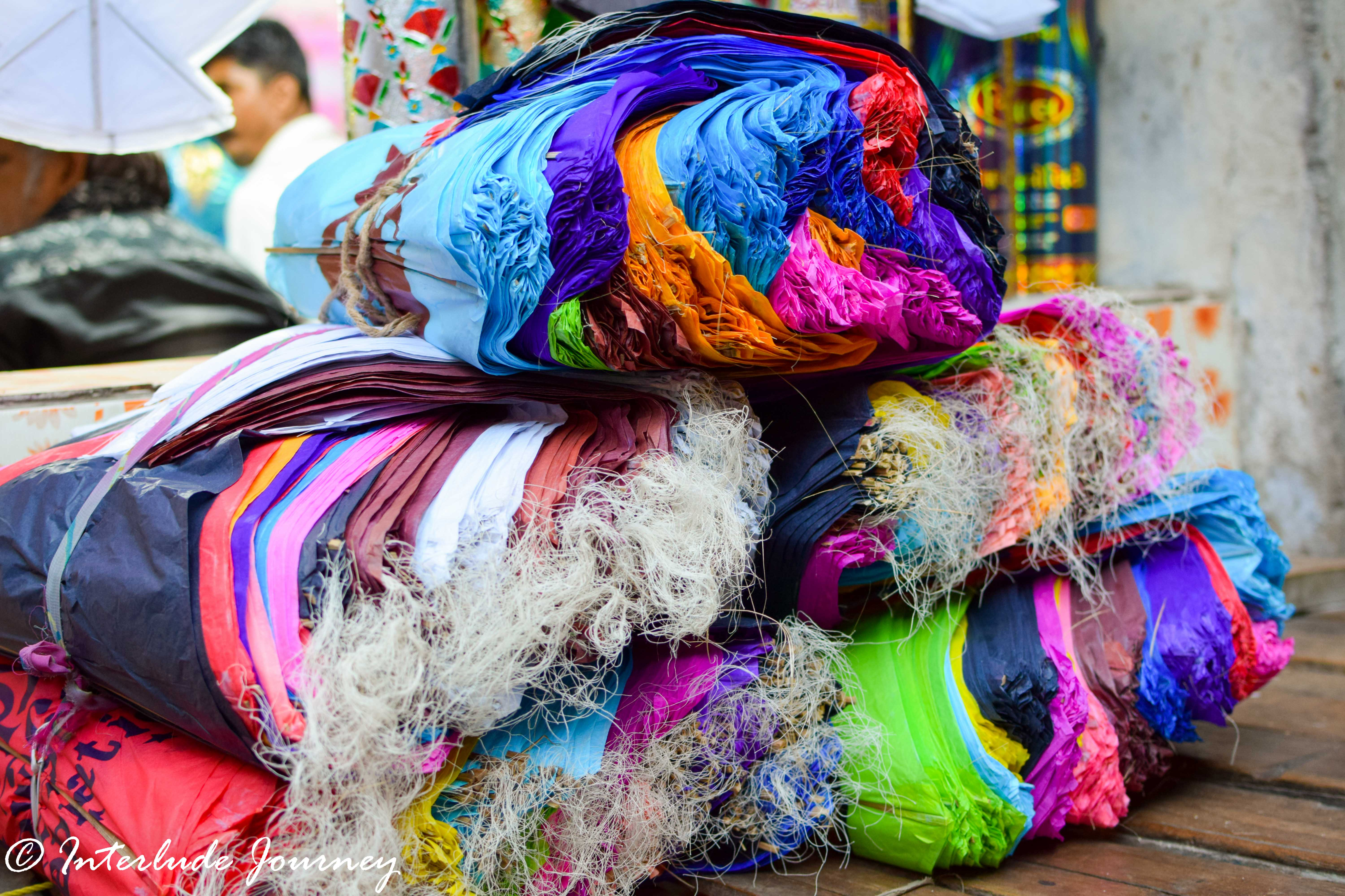 Raw material used for making kites
