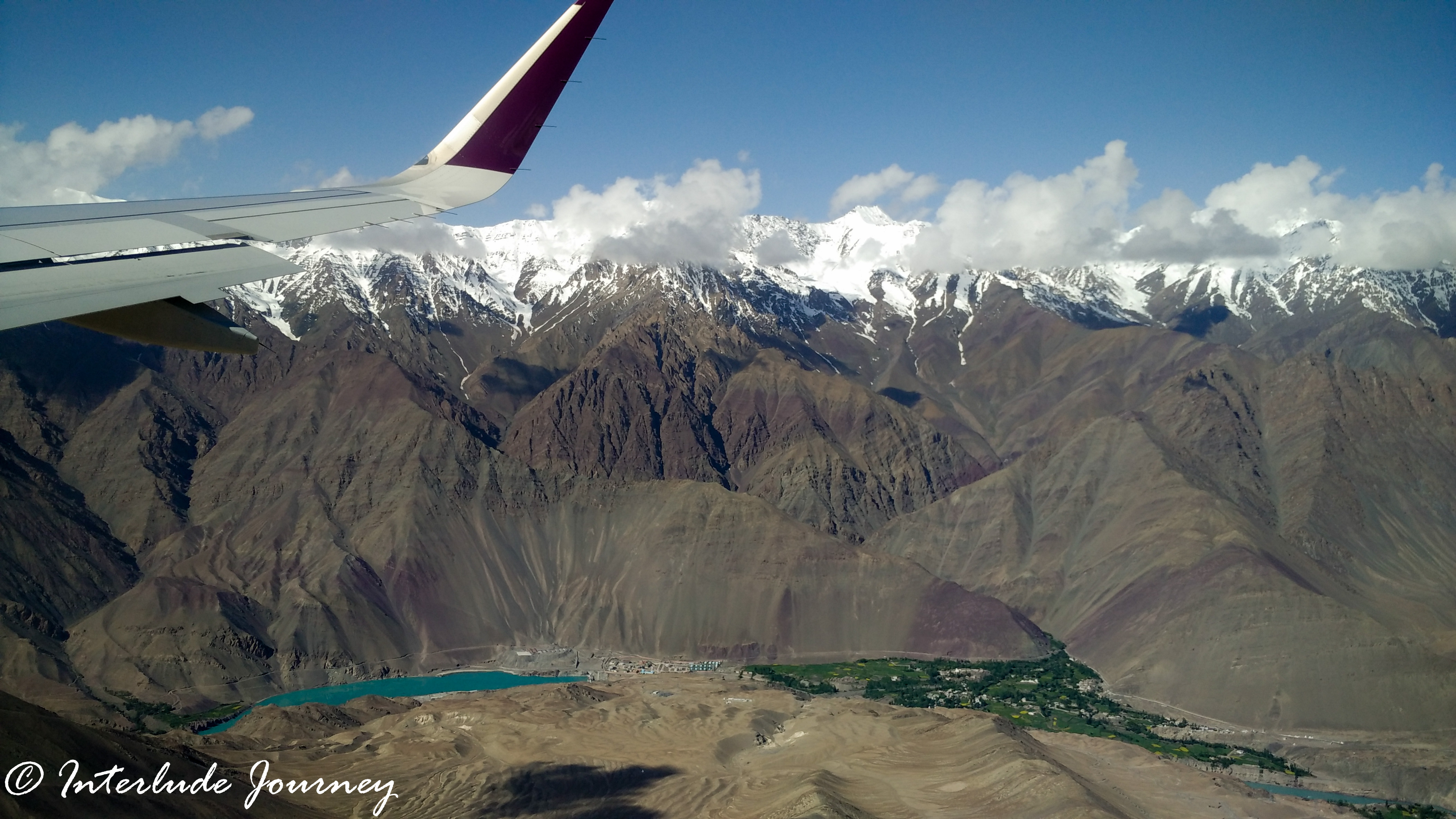 Aerial view of ladakh - taken from flight