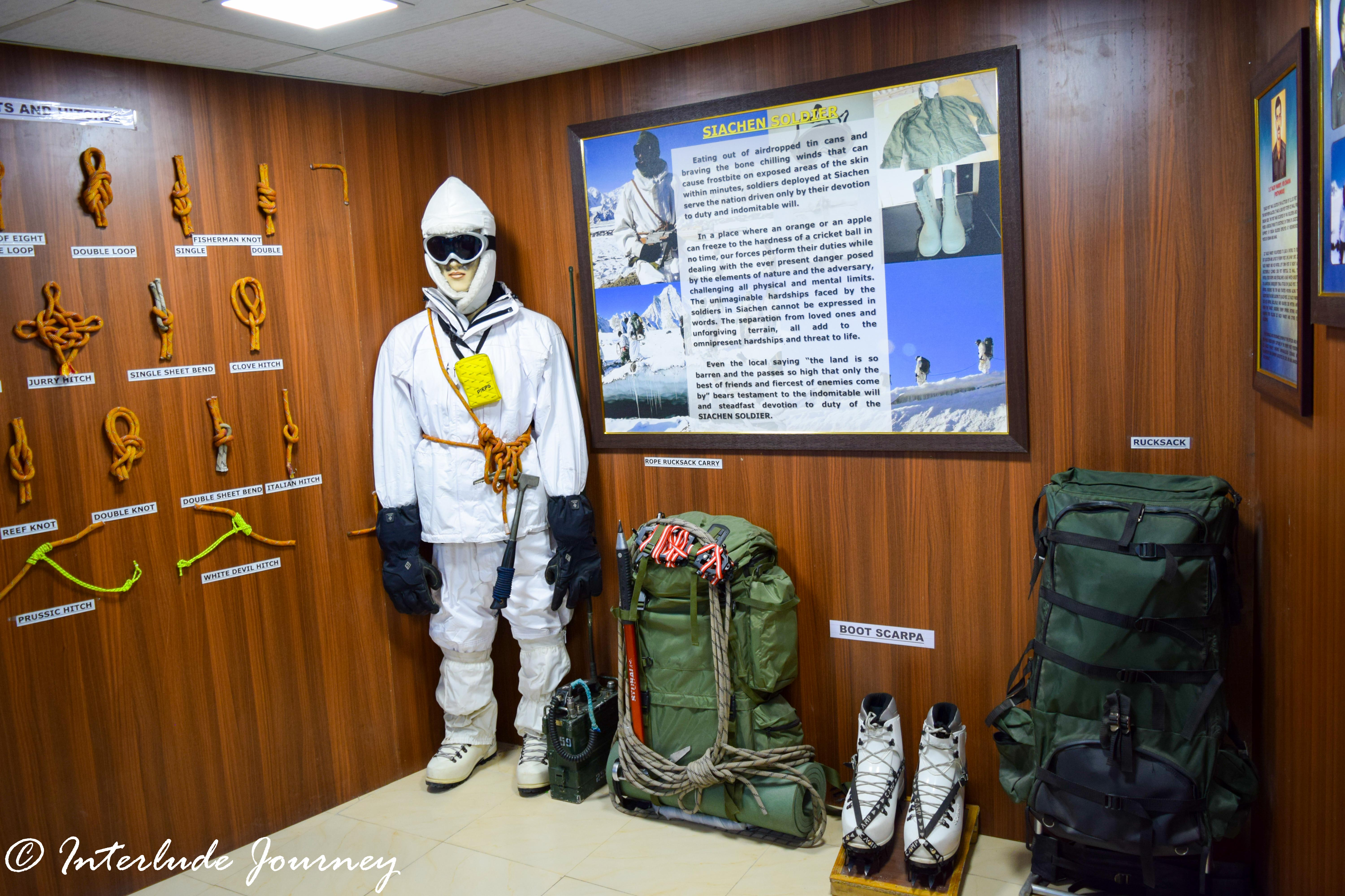 Siachen gallery in Hall of fame Museum