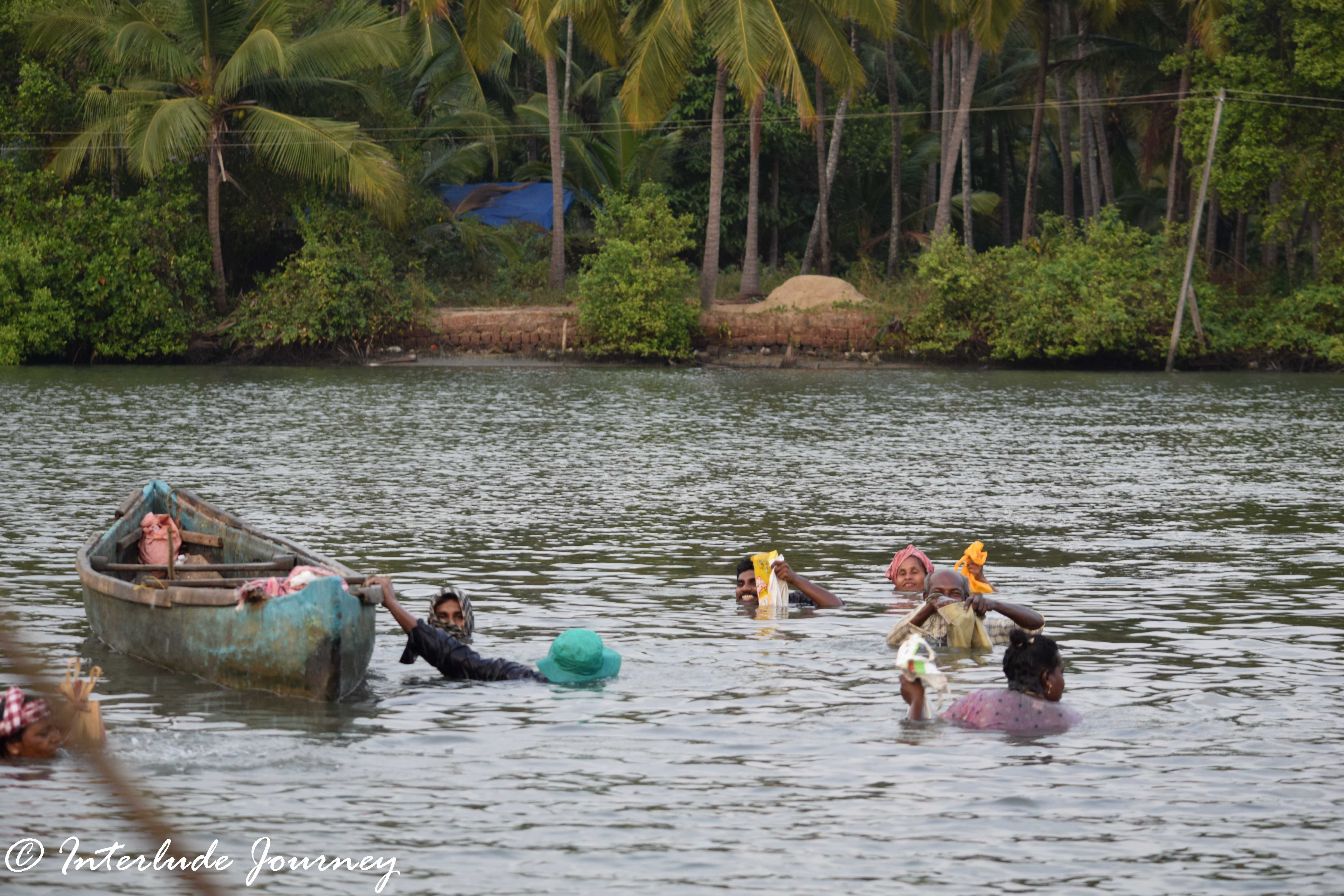 Fishing in backwaters, payyanur